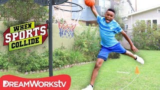 WHEN SPORTS COLLIDE | Long Jump Dunk (Basketball + Long Jump + Gymnastics)