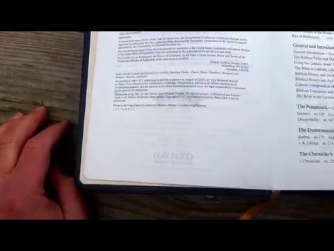 The Catholic Study Bible 3rd Edition NABRE YouTube