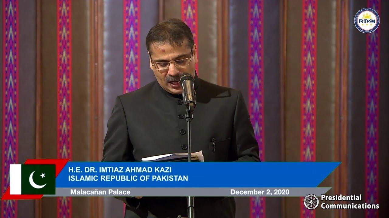 Virtual Presentation of Credentials of the Ambassador of Pakistan 12/2/2020