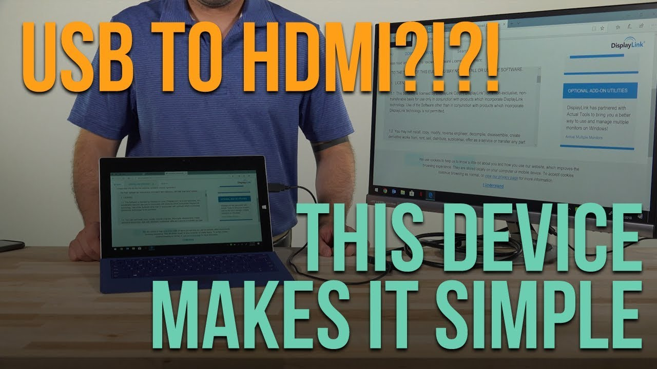 USB to HDMI?!?! This device makes it easy