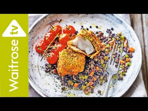 Pistachio Crusted Cod With Lentils | Waitrose