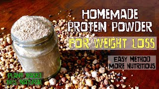 HomeMade Protein Powder   How to make protein powder for weight loss at home  healthy easy Method