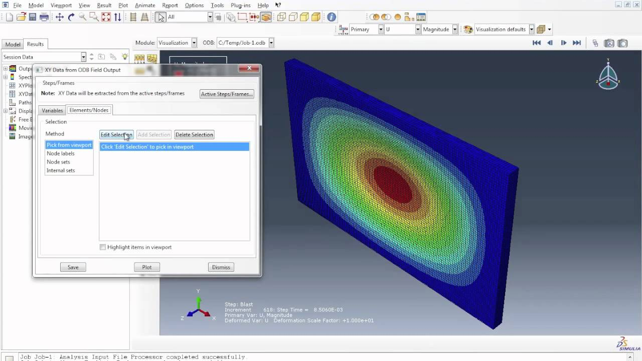 Abaqus Tutorial Part 2 Modelling A Masonry Wall Under A