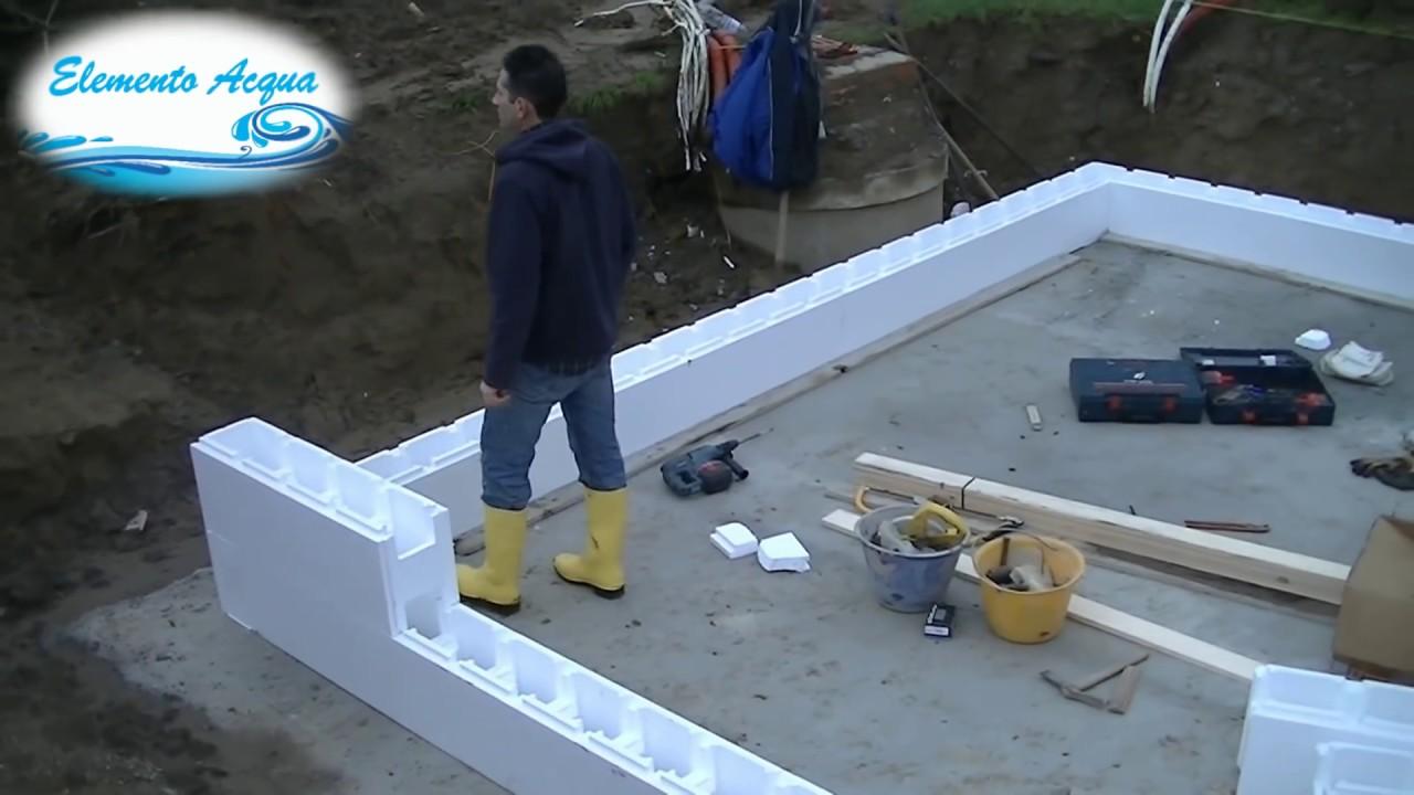 Fasi di costruzione della piscina piscina in cassero di for Costi di costruzione della piscina