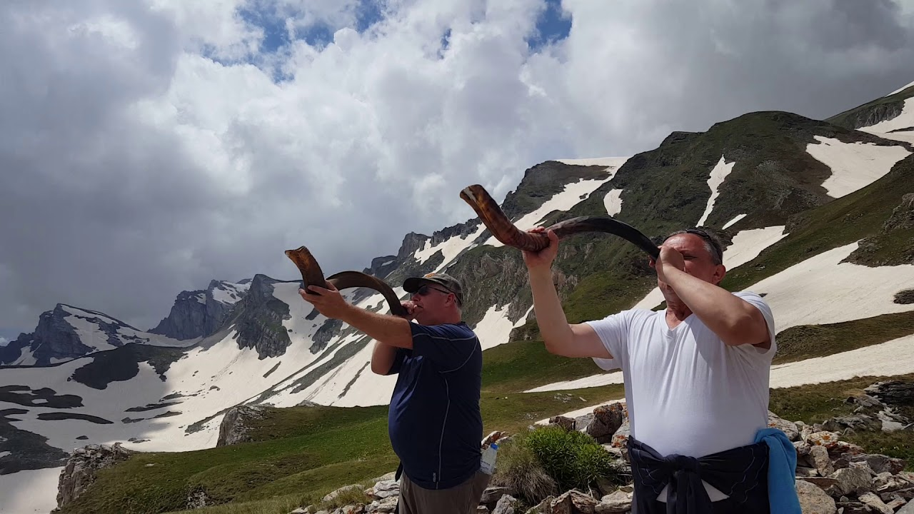 Climed Mount Korab in Macedonia to sound the shofar.