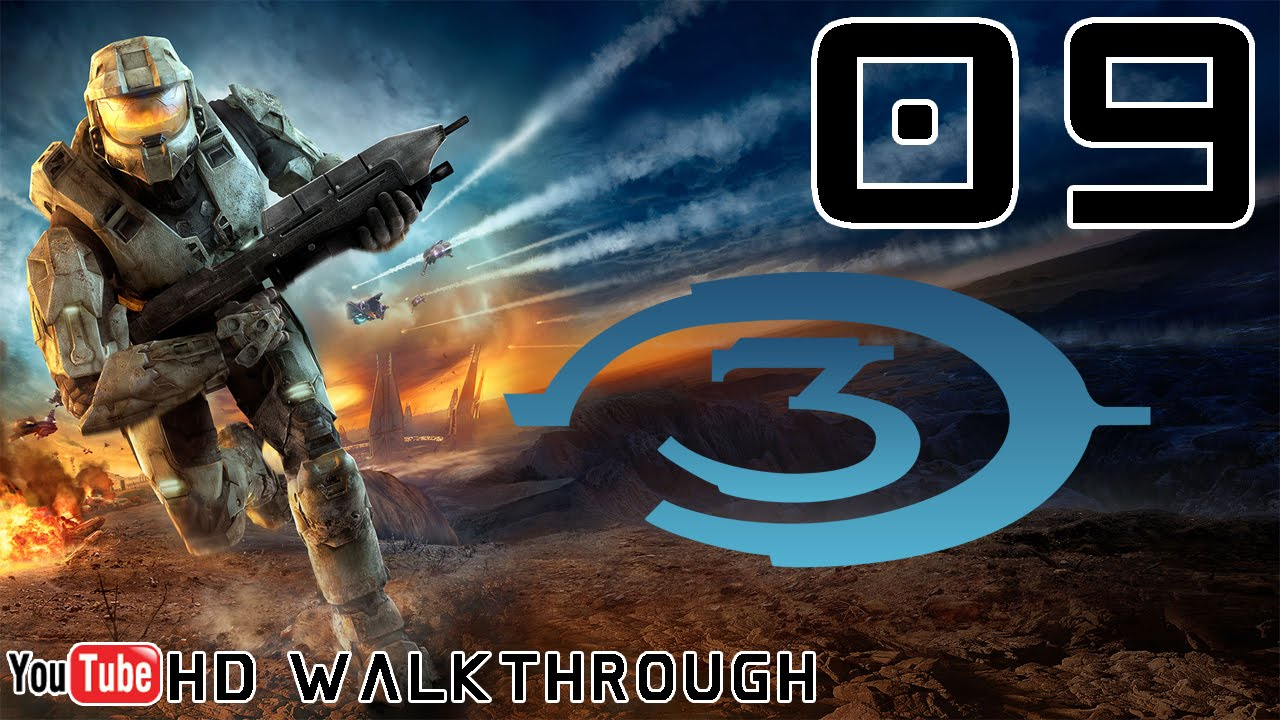 Halo 3 Walkthrough - Mission 09 (Cortana) HD 1080p X1 No Commentary