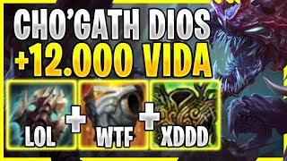 😱¡SE MUEREN DEL ASCO AL VER +12.000 DE VIDA Y +1.500 DE DAÑO VERDADERO EN LA ULTI! *CHOGATH TOP*