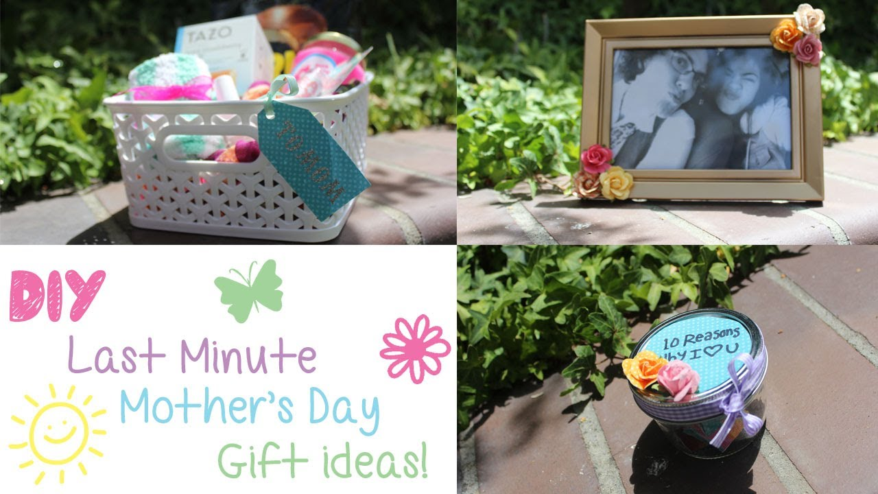 3 DIY Last Minute Mothers Day Gift Ideas