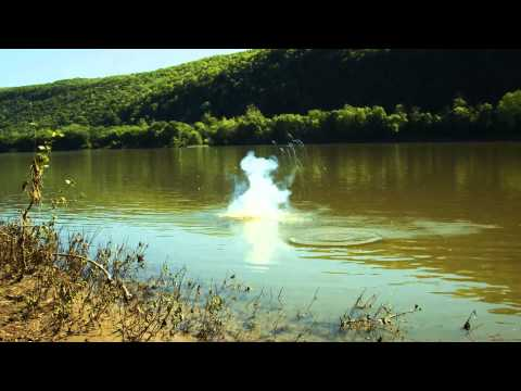 A Pound Of Sodium Metal In The River