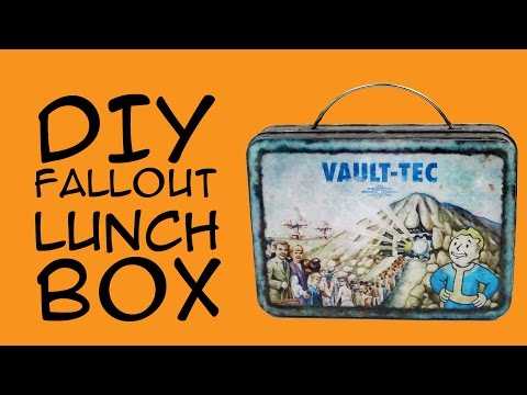 DIY Fallout Lunch Box: (Fallout Gamer fandom) Crafty McFangirl Tutorial