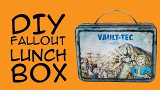 DIY Fallout Lunch Box Fallout Gamer fandom Crafty McFangirl Tutorial