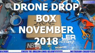 DRONE DROP BOX NOVEMBER 2018!! ANOTHER GREAT BOX!!!!