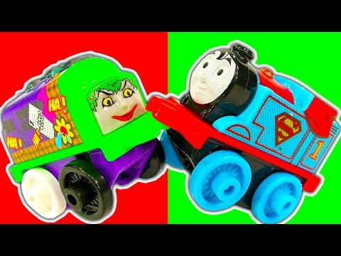 Thomas DC Comic MINIS Wave 3 Power Trains High Speed Accidents Crashes & Fun