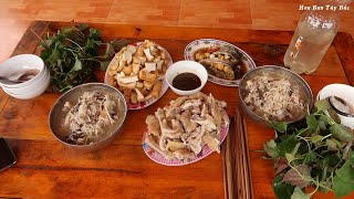 Bữa Cơm Thịt Gà & Cười Đau Ruột Với Ngày Đầu Đi Học Lái Máy Xúc | Hoa Ban Tây Bắc