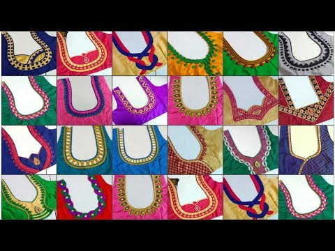 20 Simple Blouse Designs Collection 2018 || Madhus Fashion