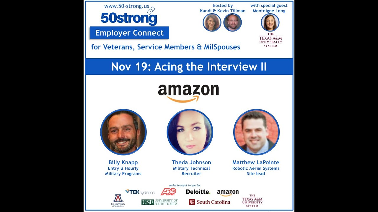 Amazon Military:  Acing the Interview!