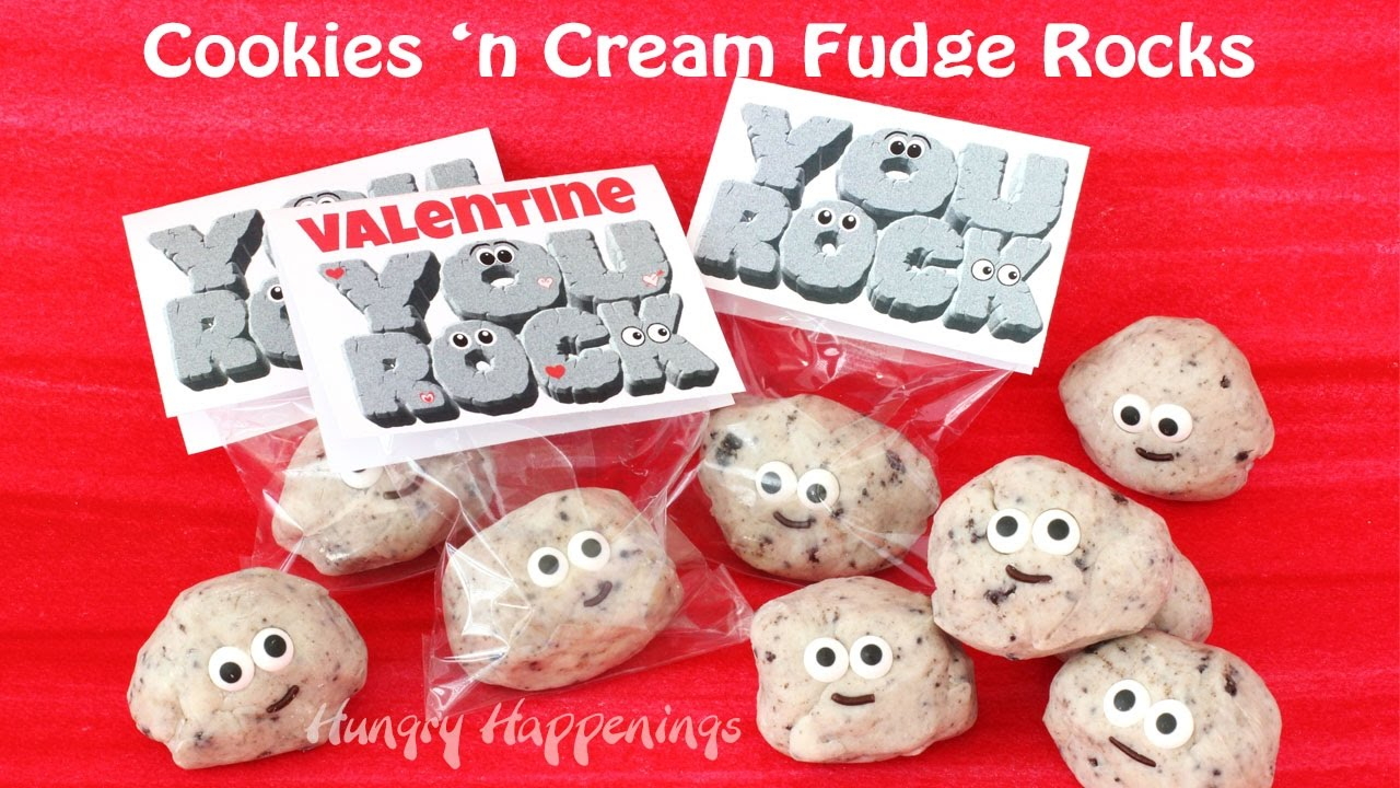 photograph about You Rock Valentine Printable known as Cookies n Product Fudge Rocks \