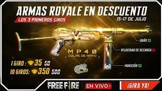 🔴 Nueva MP40 Golpe de Rayo - Free Fire - Tirando en la Nueva Luck Royale de Armas!!