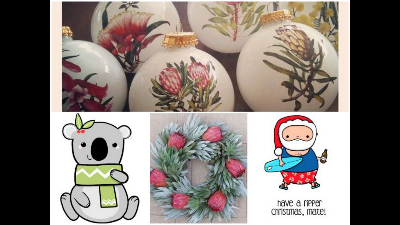 christmas in australia native australian christmas decorating ideas - Christmas Decorations Australia