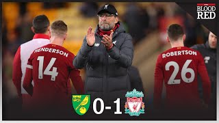 25 POINTS CLEAR   Liverpool players and Jurgen Klopp CELEBRATE win at Norwich City