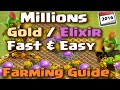 Clash of Clans - Farming Strategy for Fast and Easy Gold and Elixir (Episode 1)