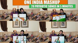 One India Mashup 20 Patriotic Songs in 5 Minutes | Independence Day Songs | Best Patriotic Songs ! !