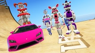 - ANIMATRONICS STUNT OFF 100 IMPOSSIBLE RAMPS GTA 5 Mods FNAF Funny Moments