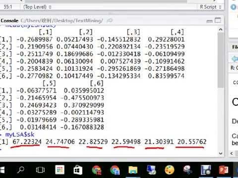 Latent Semantic Analysis - R Implementation