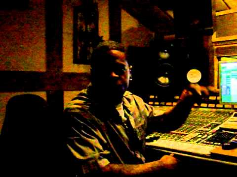 R.B.Kidd in the studio
