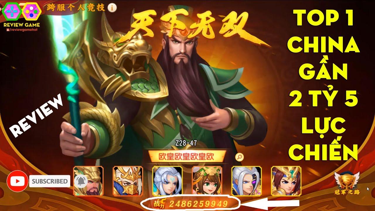 Danh Tướng 3Q – ACC TOP 1 Trung Quốc Gần 2 Tỷ 5 Lực Chiến Với Kim Triệu Vân MAX Ngầu & Dàn Tướng Phê