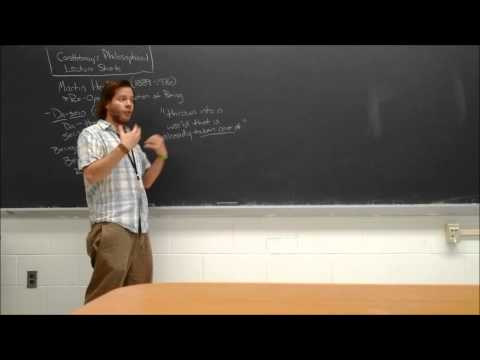 Professor Castleberry's Philosophical Lecture Shorts: Martin Heidegger and Being in the World