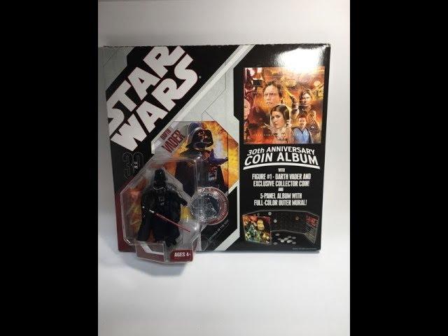 HASBRO Star Wars 30TH anniversary coin album Darth Vader New /& Boxed
