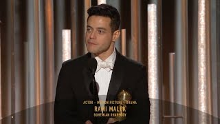 [HD] Rami Malek Wins Best Actor | 2019 Golden Globes