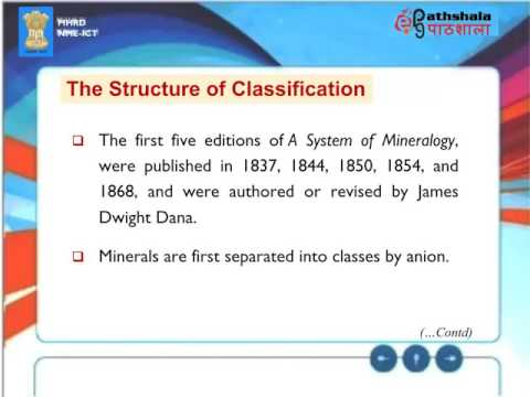 036  Chemical Classification of Minerals  (ES)