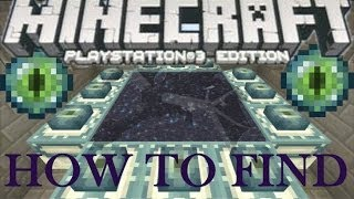 Minecraft ( Wii U / PS3 / XBOX ) - How To Find and Activate The End Portal - Playstation 3 Tutorial