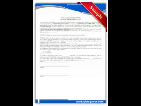 Free Printable Vending Machine Agreement Forms
