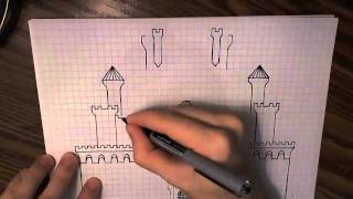 How to Draw a Castle (with graph paper)