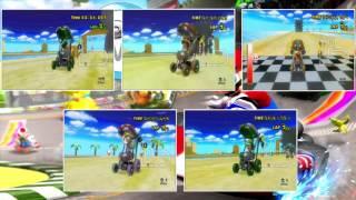 """""""5-PLAYER SPLITSCREEN?!"""" Mario Kart Wii Friend Room Races: Episode 7"""