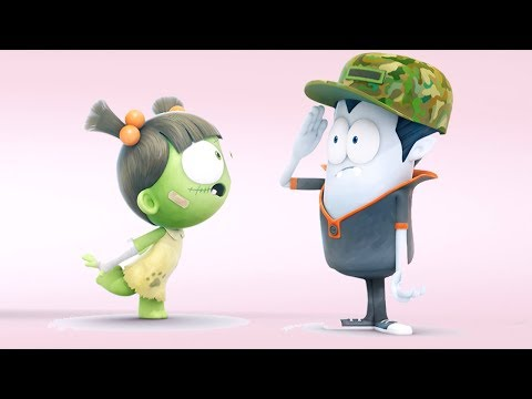 Funny Animated Cartoon | Spookiz Lieutenant Kebi Dress Up  스푸키즈 Cartoon For Children