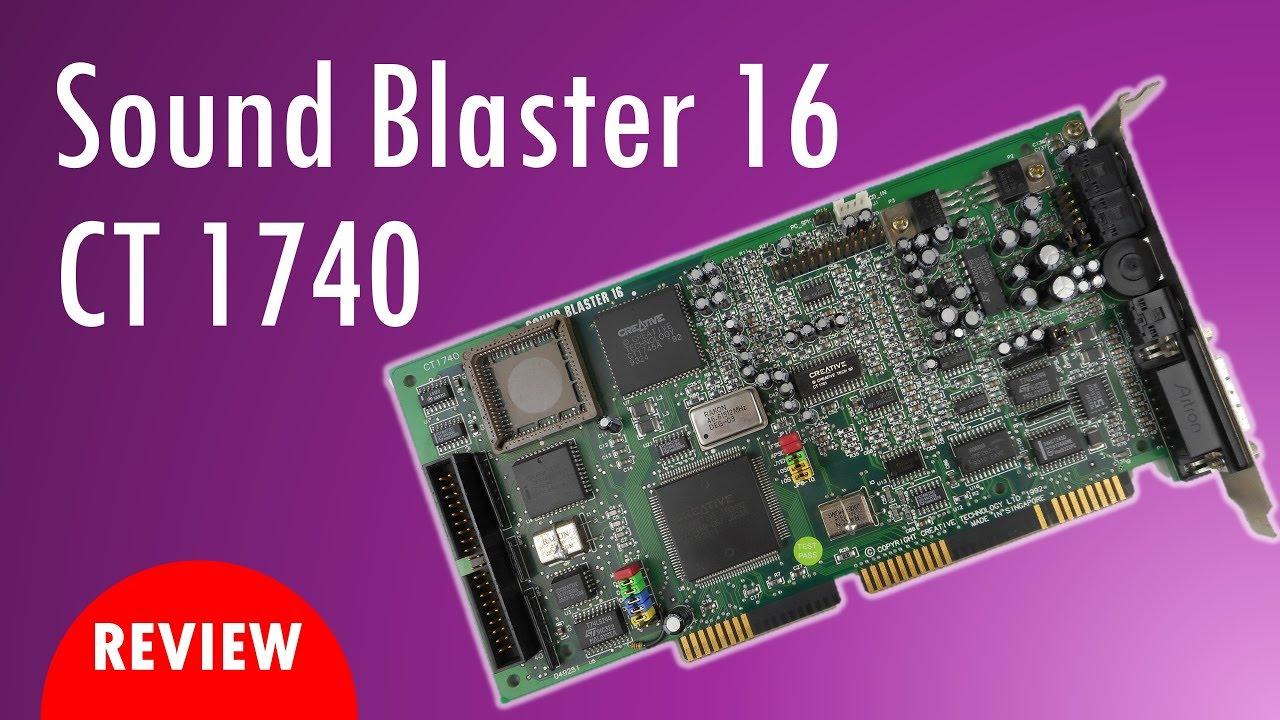 TESTED Creative Labs CT4170 16-Bit ISA Sound Blaster 16 Sound Card Game Port
