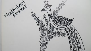 madhubani painting(peacock)