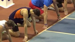Григорий Малахов занял 3 место на зимнем первенстве ПФО в многоборье. Забег на 60 м с/б (5 дорожка)