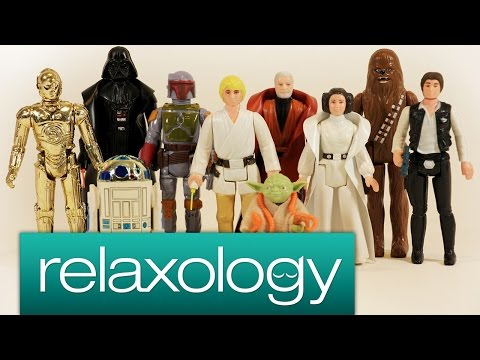 ASMR Q-Tip Cleaning Vintage Toys - Kenner Star Wars Action Figures - by relaxology