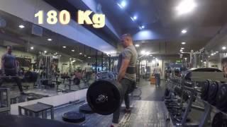 Становая тяга. 180 и 190 кг!