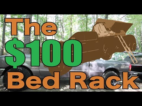 DIY $100 Universal Truck Bed Rack for Roof Top Tents! NO Welding or Drilling Required!