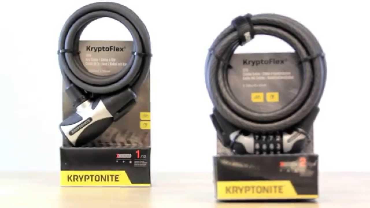 "Kryptonite KryptoFlex Braided Cables 4/' x 3//8/"" New-Old-Stock PAIR 2"