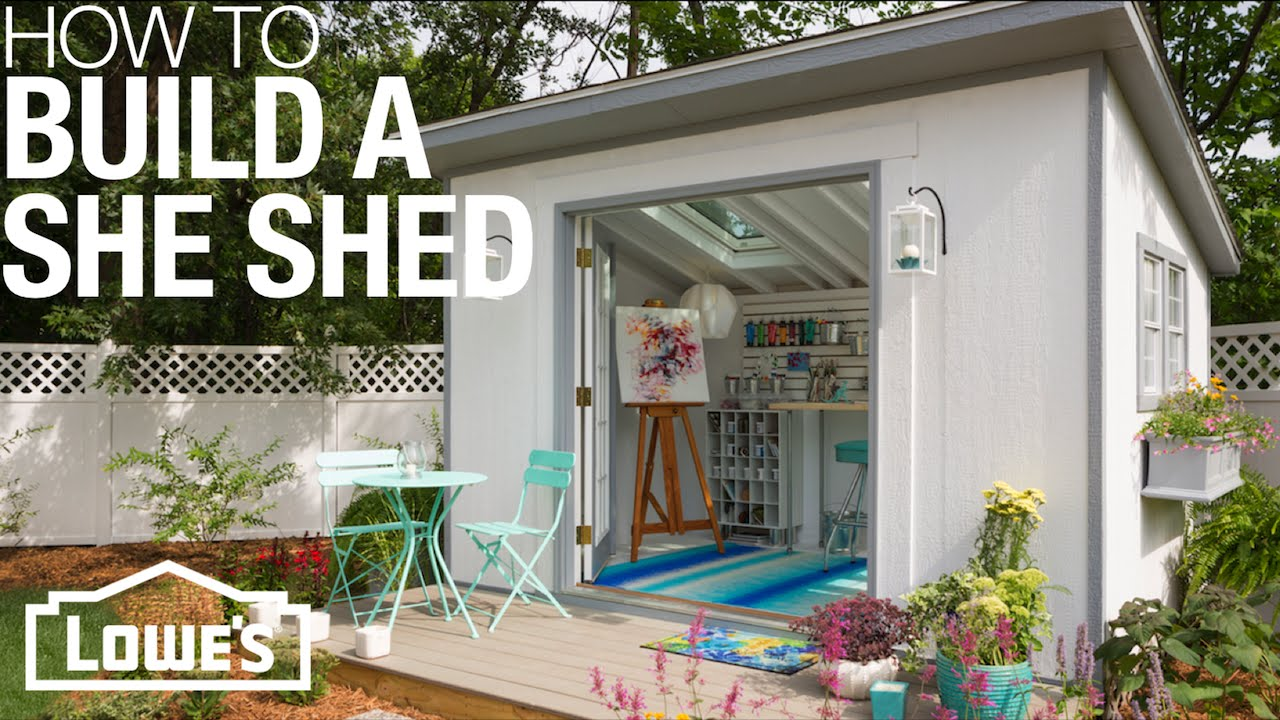 She Sheds: Plans for How to Build & Customize - YouTube