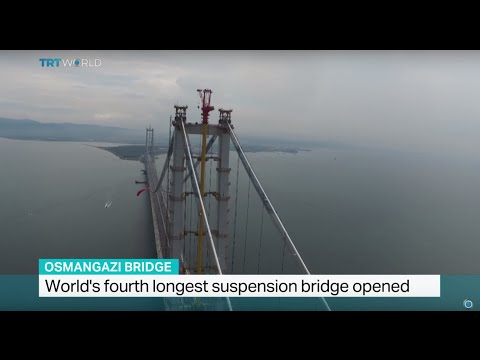 World's fourth longest suspension bridge opened in Turkey, Sally Ayhan reports