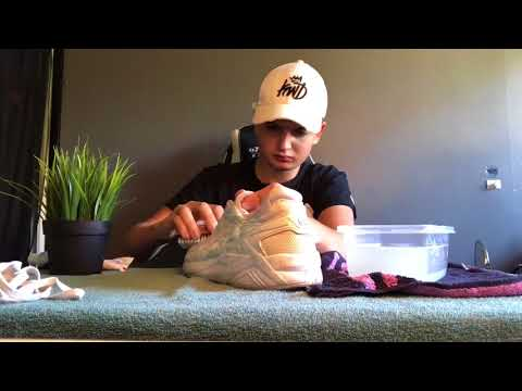 Restoring White Shoes On A Budget | Asics Gel Kayano Evo