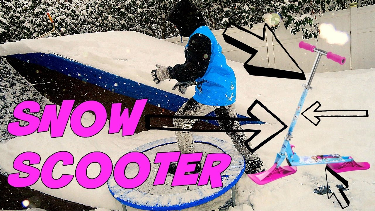 ATTEMPTING TO RIDE A SNOW SCOOTER!!!